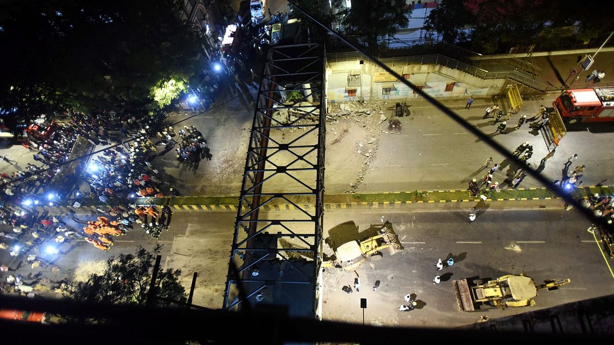 CSMT foot overbridge (FoB), which collapsed on March 14, killing seven people, was structurally weak.