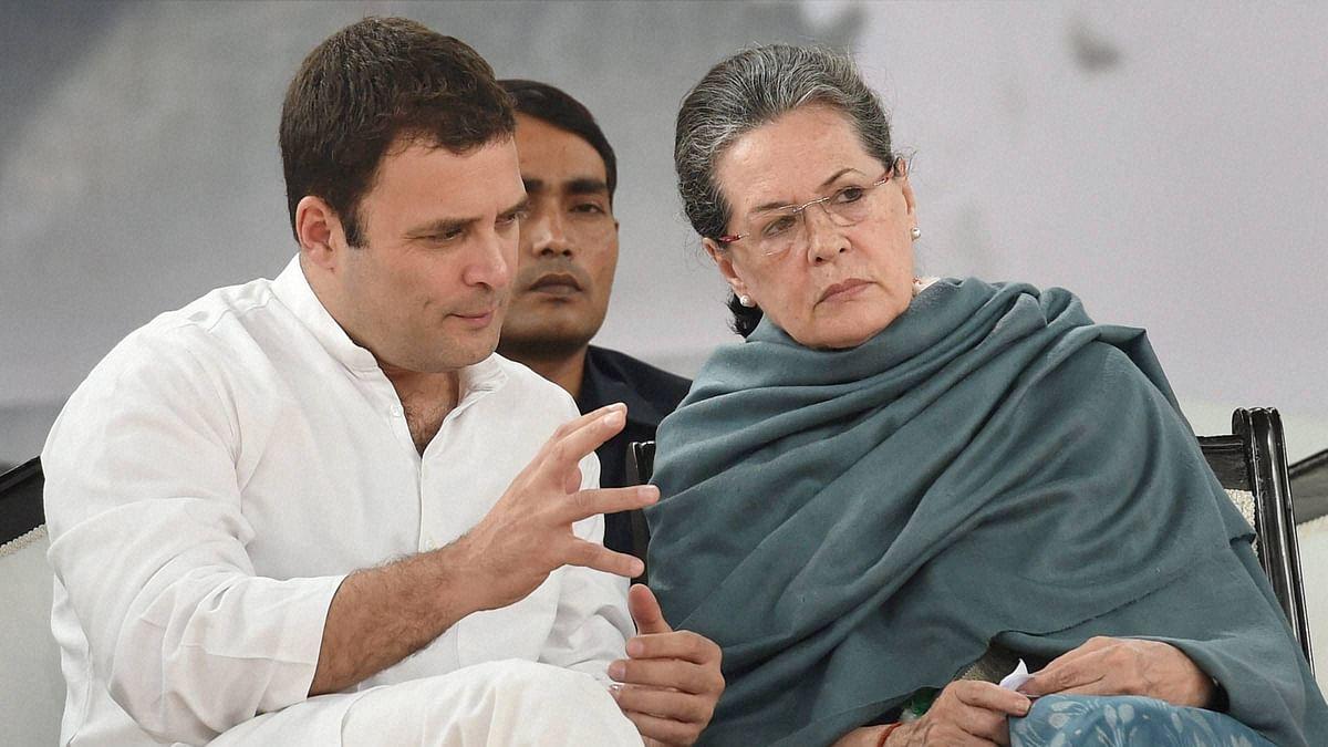 Sonia Gandhi and  Rahul Gandhi in New Delhi.