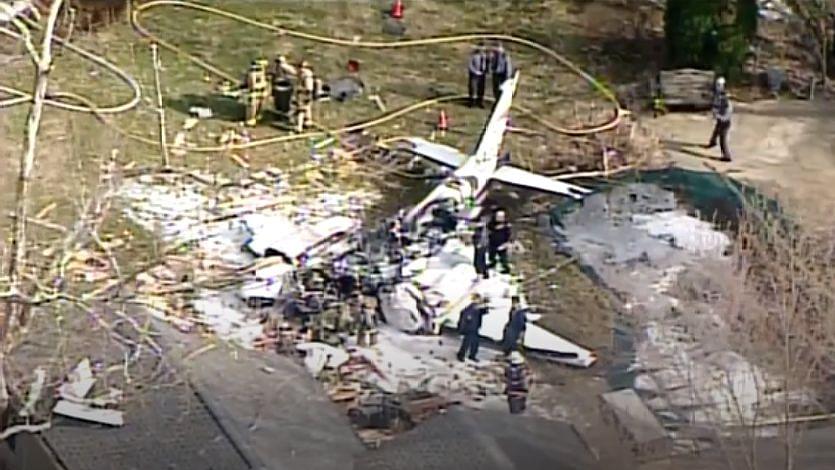 Plane Crash Lands Into a House in Ohio's Cincinnati, Pilot Dies