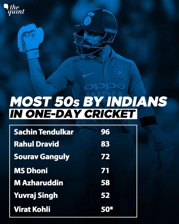 Nagpur ODI: Virat Kohli Scores Career's 50th One-Day Half Century