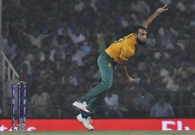 Imran Tahir. (Photo: Nitin Lawate/IANS)
