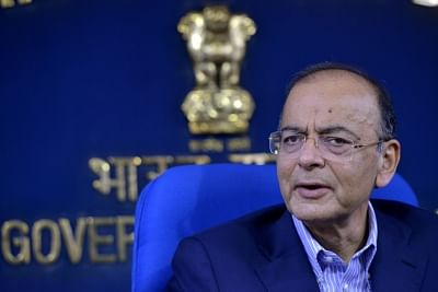 New Delhi: Union Finance and Corporate Affairs Minister Arun Jaitley addresses a press conference in New Delhi, on March 7, 2019. (Photo: IANS)