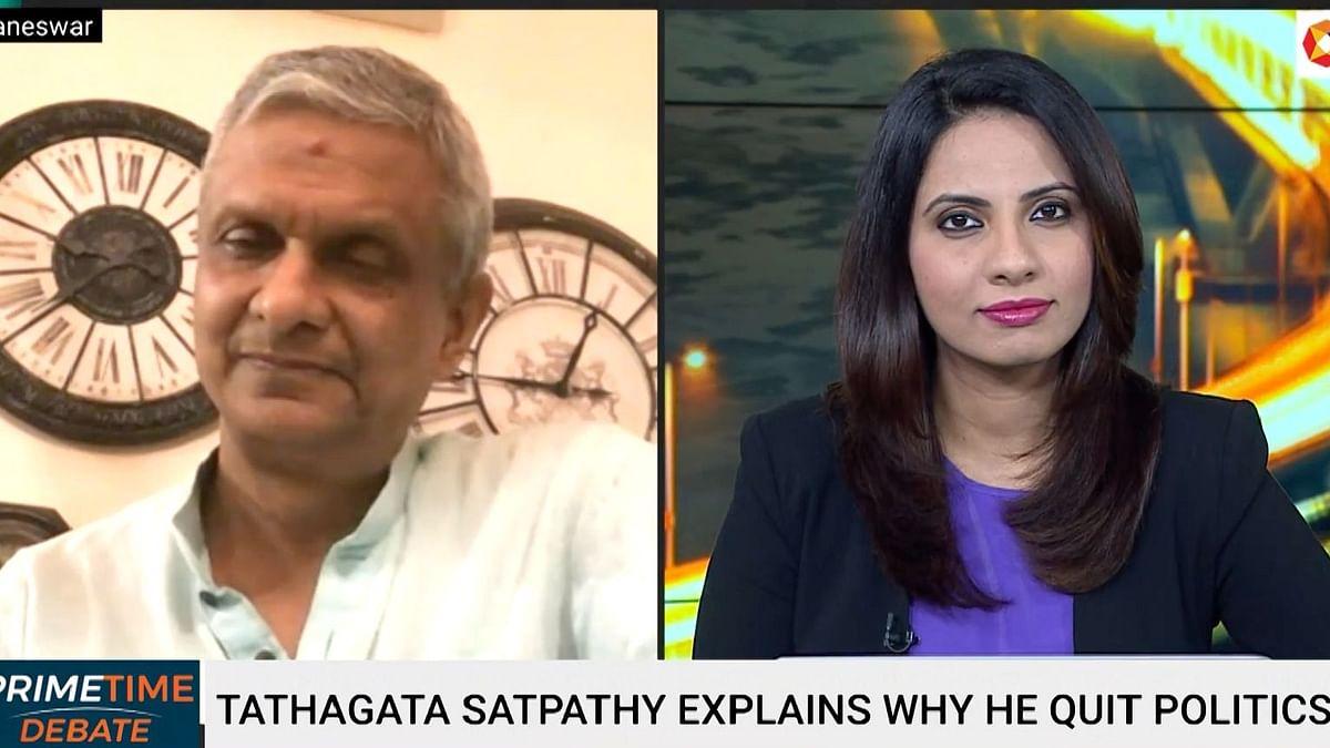 Tathagata Satpathy speaking to <i>BloombergQuint</i>