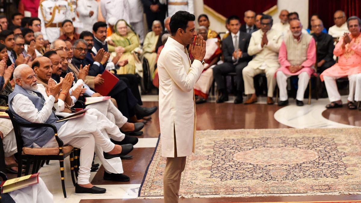 Manoj Bajpayee Honoured With Padma Shri by President Kovind