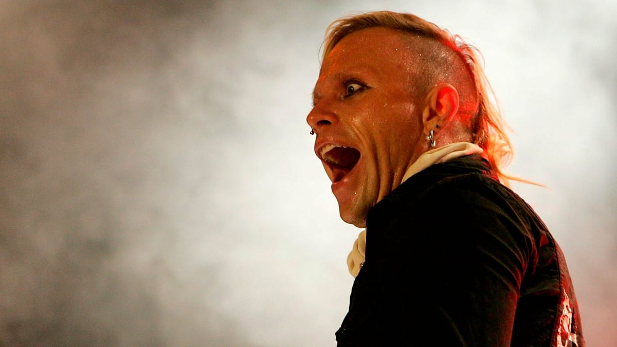 Keith Flint, singer of the British band Prodigy, performs on stage, at the Gurten open air Festival in Bern, Switzerland.