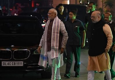 Prime Minister and BJP leader Narendra Modi and party chief Amit Shah. (Photo: IANS)