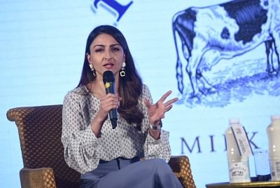 New Delhi: Actress Soha Ali Khan at a dairy product launch programme in New Delhi, on Jan 17, 2019. (Photo: IANS)