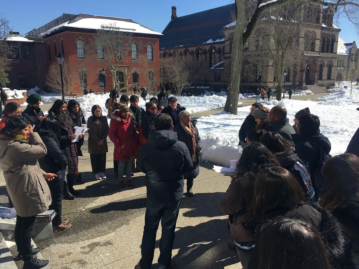 Social activist Aruna Roy addressed students at Brown.