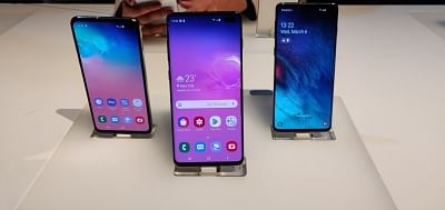 New Delhi: Newly launched Samsung Galaxy S10, S10+ and S10e smartphones in New Delhi, on March 6, 2019. (Photo: IANS)