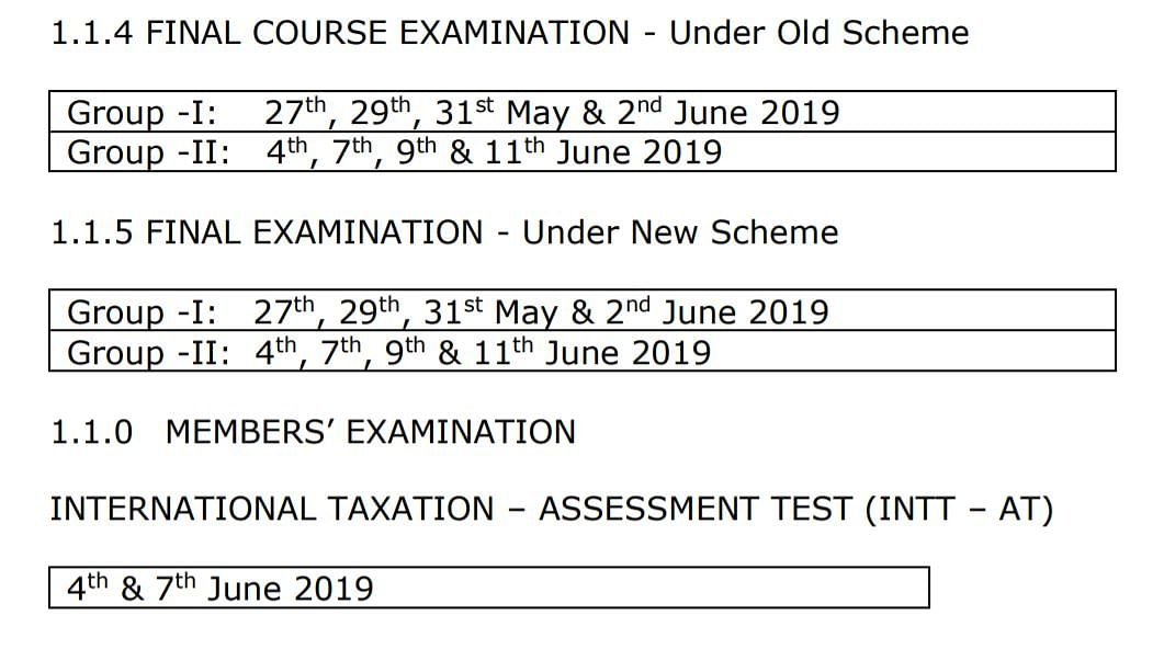 ICAI Postpones CA May 2019  Examination  Due to General Elections