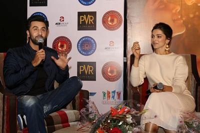 Actors Deepika Padukone and Ranbir Kapoor. (Photo: Amlan Paliwal/IANS)