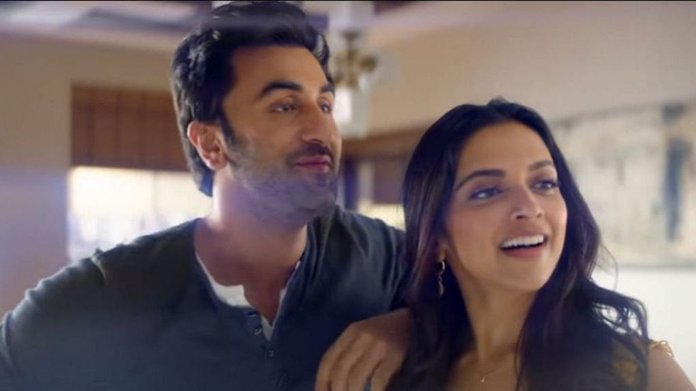 Ranbir Kapoor and Deepika Padukone in a still from the ad.