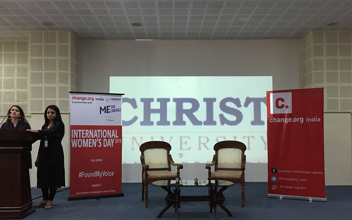The event was held at Christ University in Bengaluru.