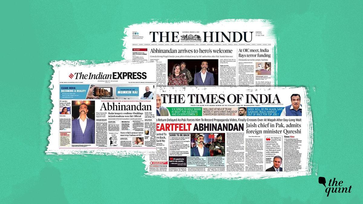 'Heartfelt Abhinandan', 'IAF Hero Returns': How Dailies Covered It