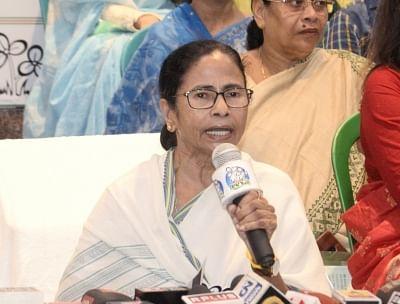 Kolkata: West Bengal Chief Minister Mamata Banerjee addresses a press conference in Kolkata, on March 13, 2019. (Photo: IANS)