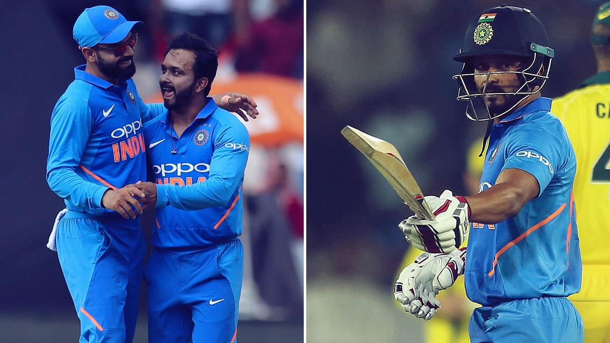 Kedar Jadhav starred with ball and bat during India's win in the first ODI against Australia at Hyderabad.