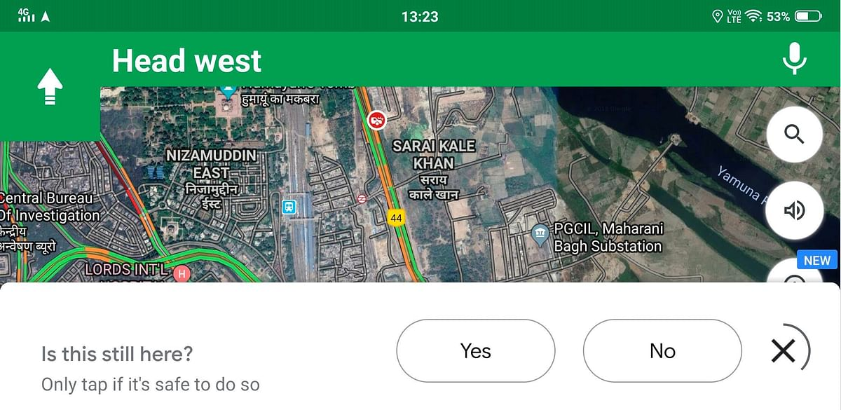 Let Google Maps know if the area is good for traffic movement.