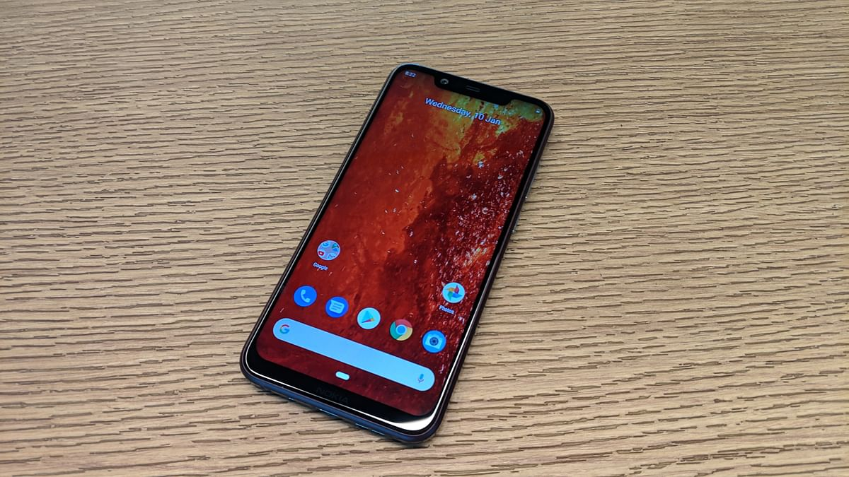 Nokia 8.1 gets a notch which is wide across the display.