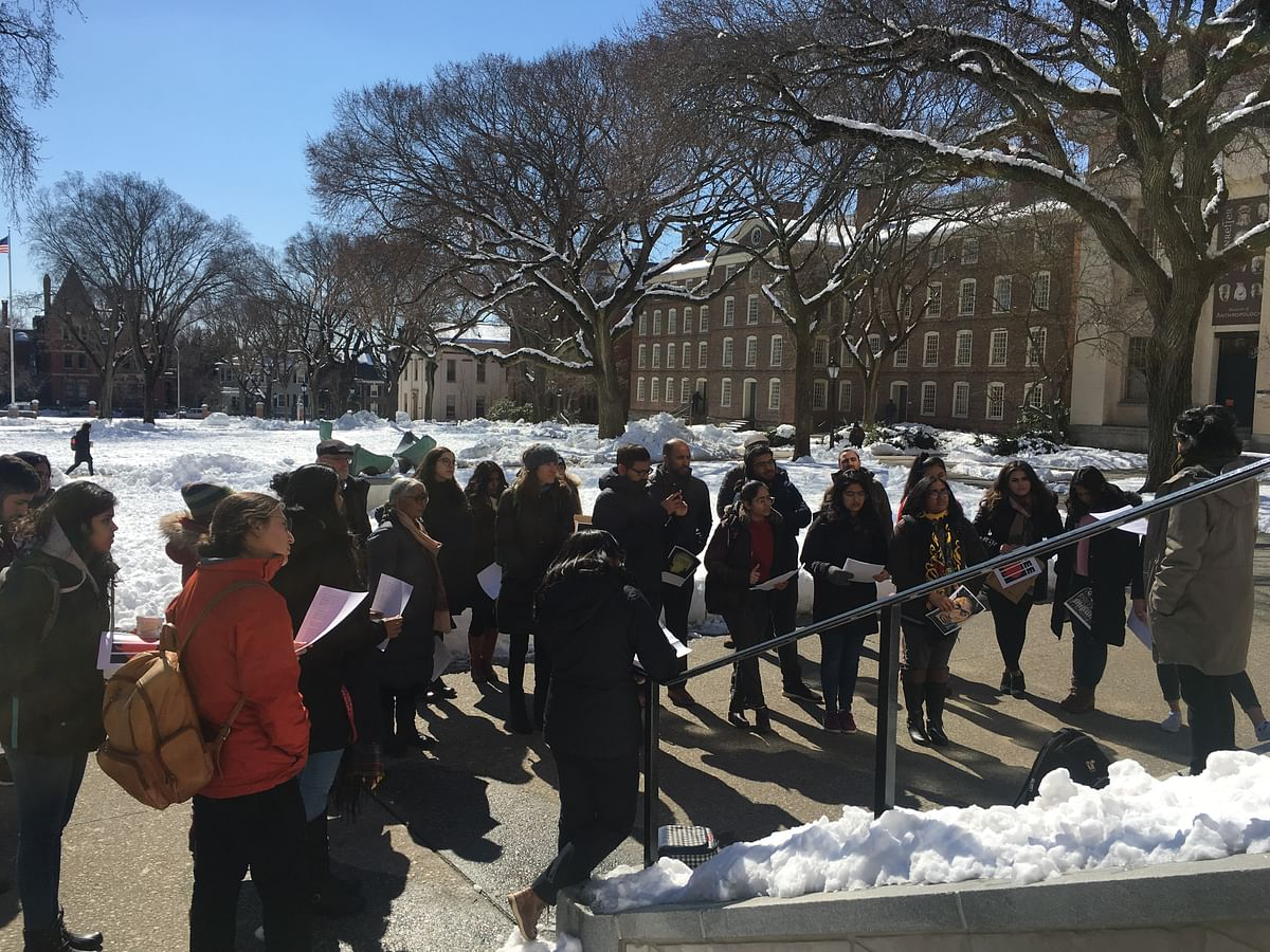 Brown Peace Standout was organised by the students of Brown University.