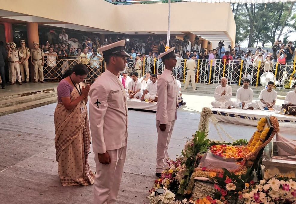 Manohar Parrikar Cremated With Full State Honours in Panaji