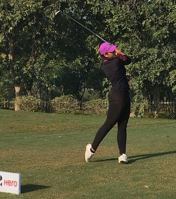 Gurugram: Gaurika Bishnoi during Women's Pro Golf Tour in Gurugram on March 6, 2019. (Photo: IANS)
