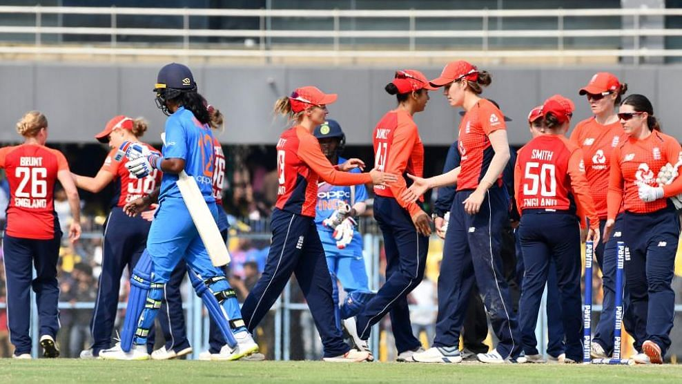 The Indian women's cricket team suffered a five-wicket defeat to England in the second T20 International.