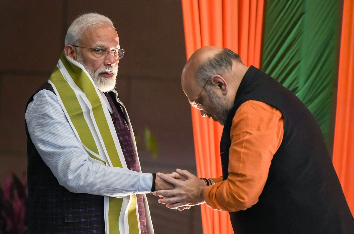 PM Modi with Amit Shah.
