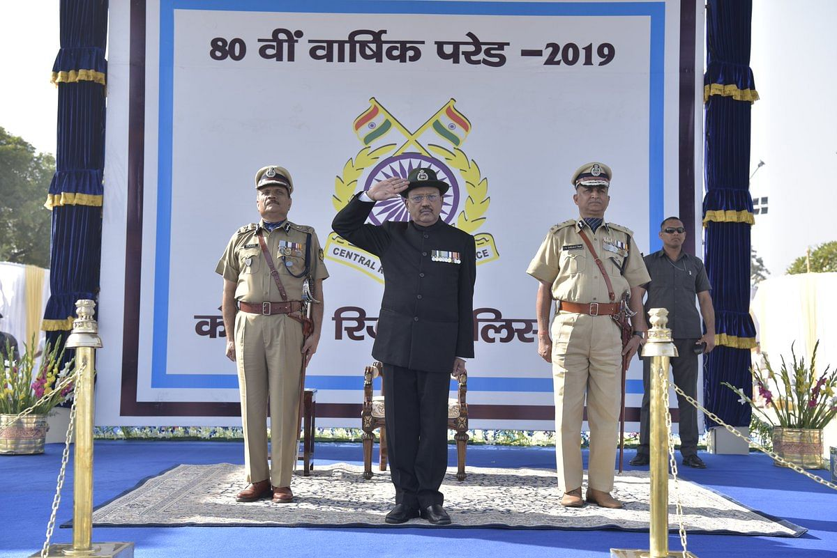 National Security Advisor Ajit Doval participates in the celebrations of 80th Raising Day of CRPF in Gurugram.