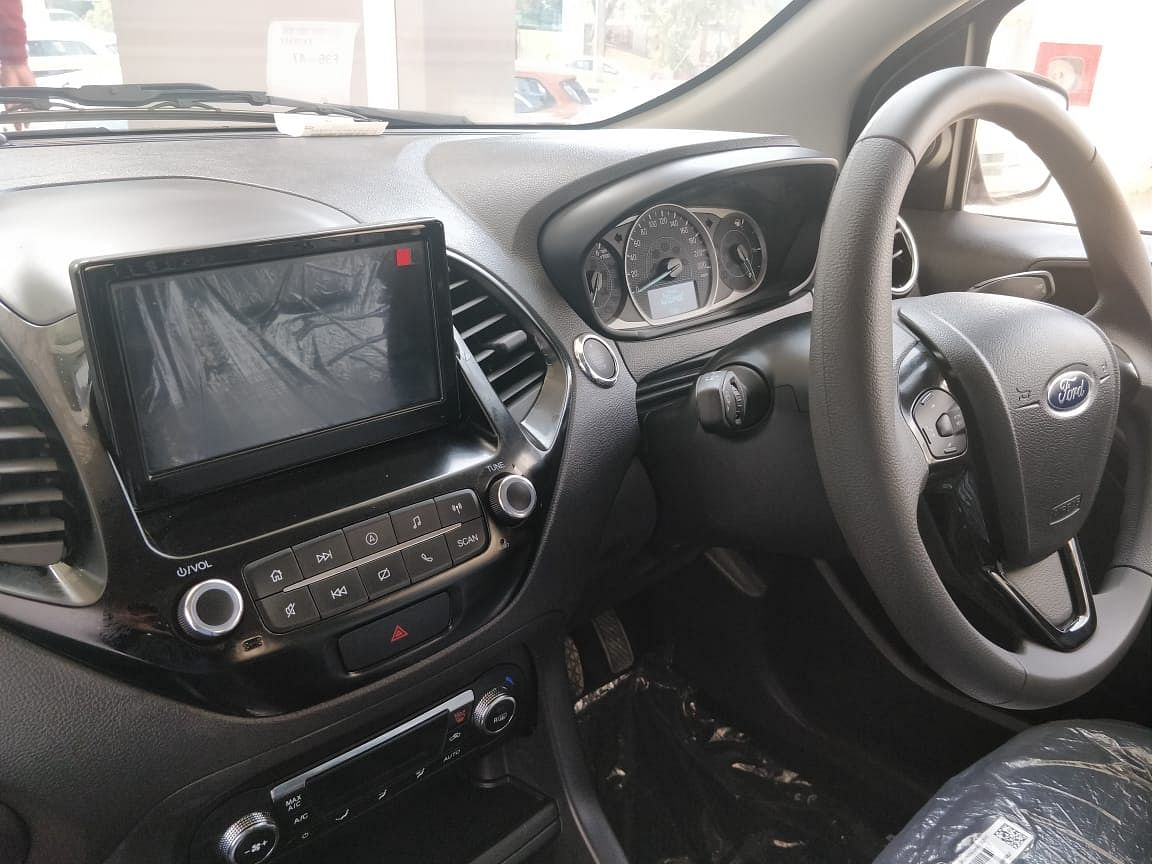 2019 Ford Figo interiors with a new 7-inch touchscreen audio system.