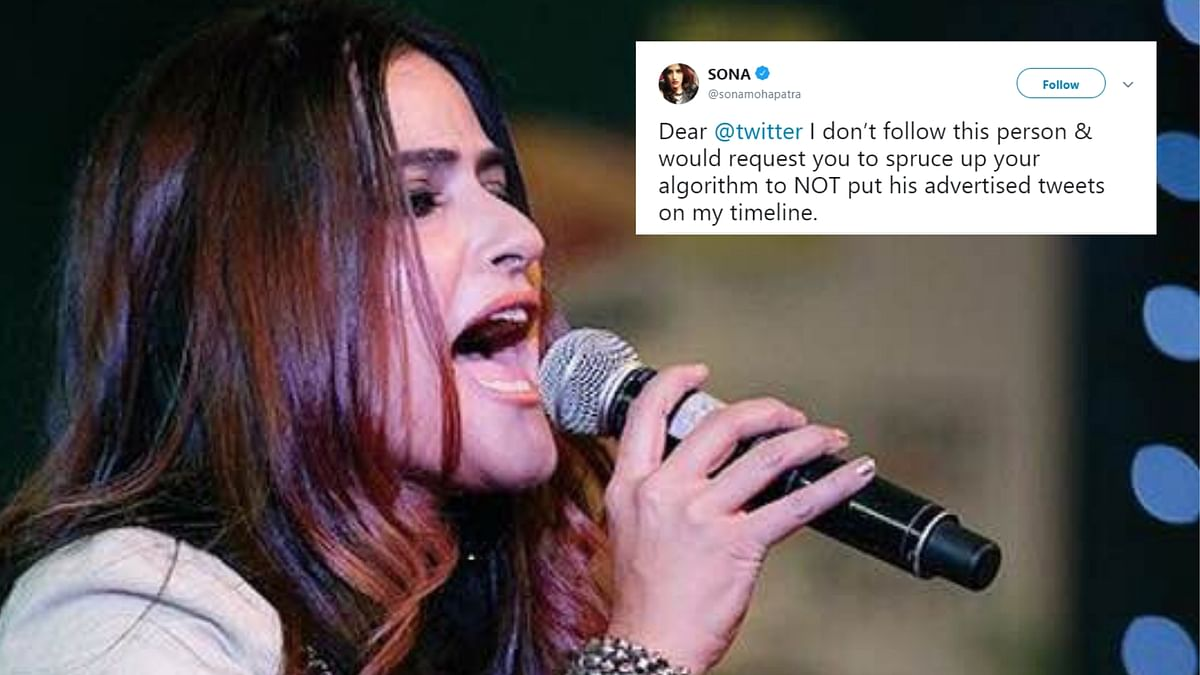 Sona Mohapatra says she doesn't want to see Salman Khan's 'advertised tweets' on her timeline.