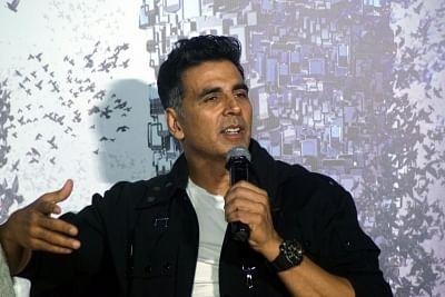 "Mumbai: Actor Akshay Kumar during a press conference to promote his upcoming film ""2.0"" in Mumbai on Nov 24, 2018. (Photo: IANS)"