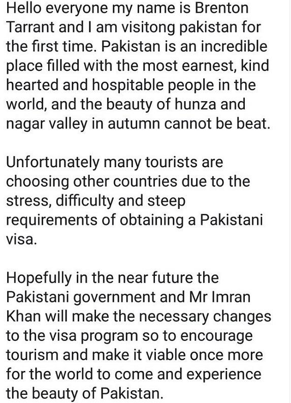 NZ Terrorist Had Visited Gilgit-Baltistan, Praised Pak in the Past
