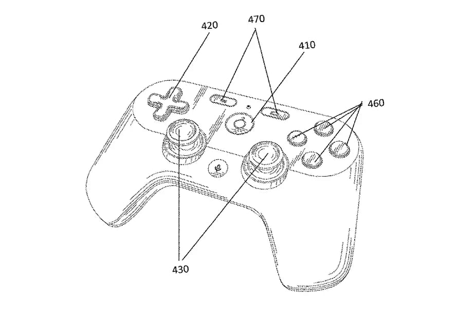 Render image of the controller that could be bundled with the game streaming service.