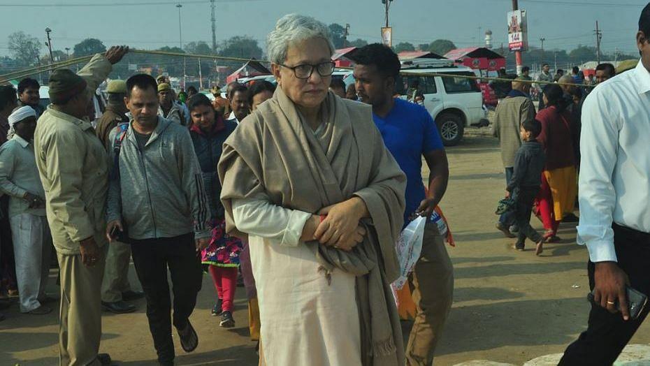 Tripura Deputy Chief Minister Jishnu Dev Varma at the Kumbh Mela.