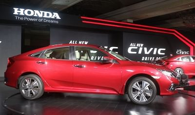 "New Delhi: Newly launched 2019 Honda new ""Civic"" in New Delhi, on March 7, 2019. (Photo: IANS)"