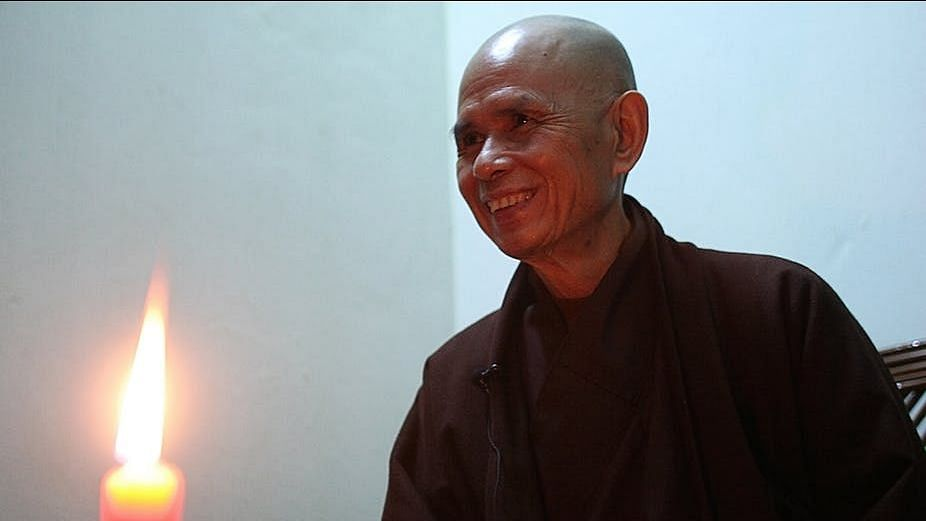 File image of Vietnamese Monk Thich Nhat Hanh.