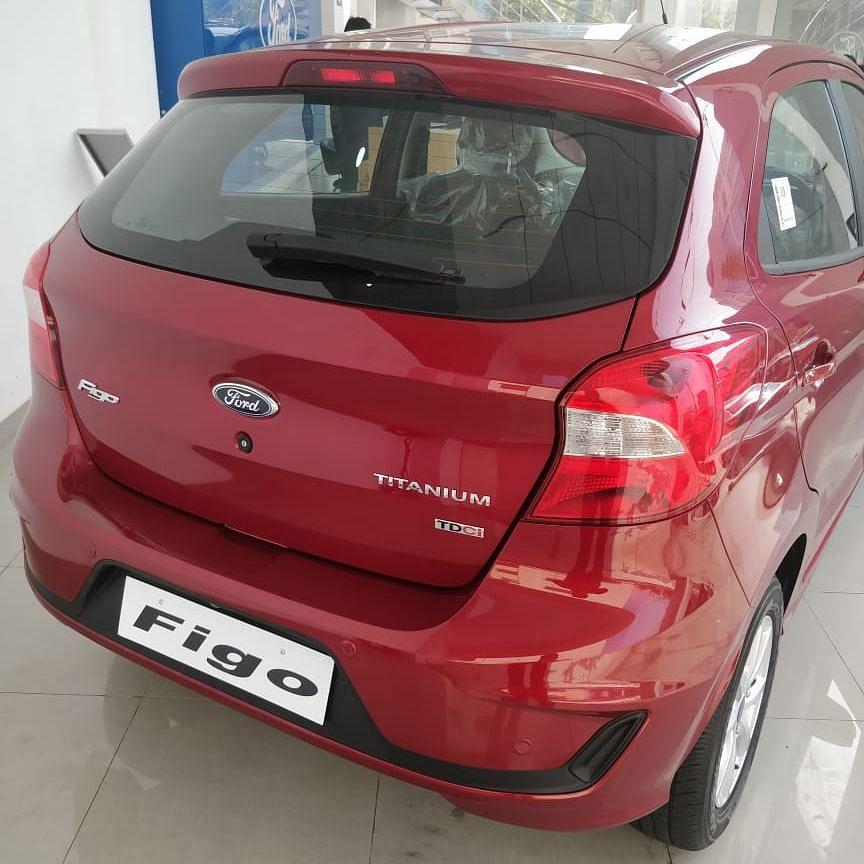New rear bumper design on the Ford Figo.