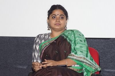 """Panaji : Film Director Ashwiny Iyer Tiwari during panel discussion on """"Young filmmakers of India: The Emerging Voices and the Narrativesâ€Â�, at the 48th International Film Festival of India (IFFI-2017), in Panaji, Goa on November 23, 2017. (Photo: IANS)"""