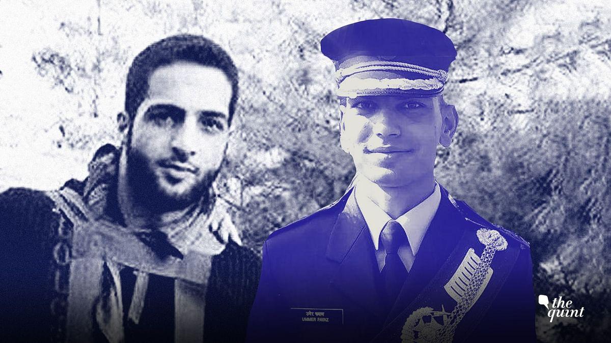 Burhan Wani (L) and Lt Ummer Fayaz (R).