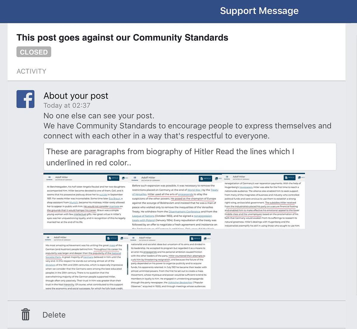 Facebook Bans Modi Critic for Hitler Post, Unbans After Complaint