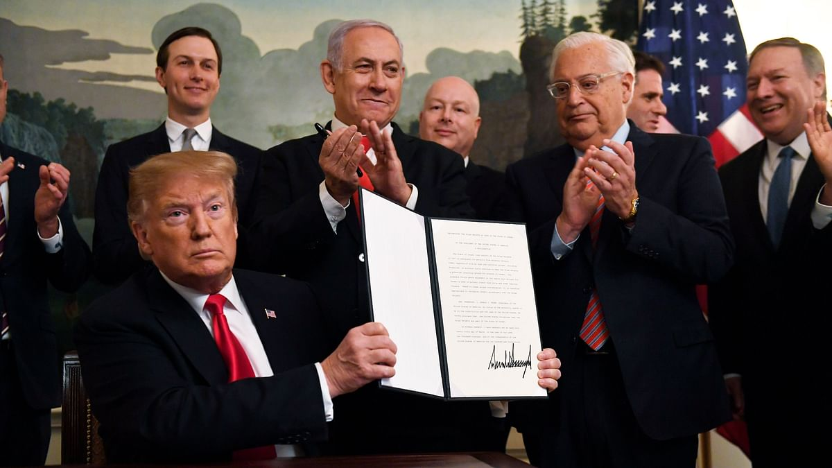Trump Formally Recognises Israel's Sovereignty Over Golan Heights