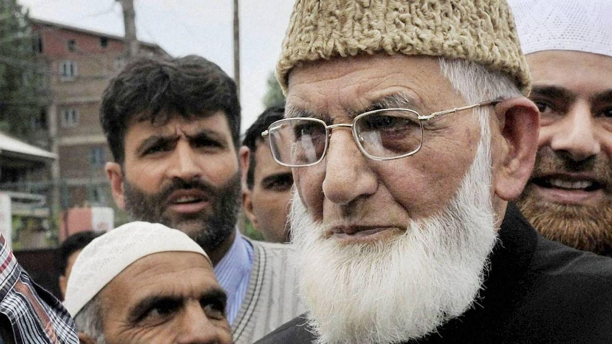 File photo of Hurriyat leader Syed Ali Shah Geelani.