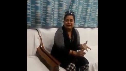 In the video, Pandey is seen crying while talking about how she has not received her salary for the month and is not being able to feed her children.
