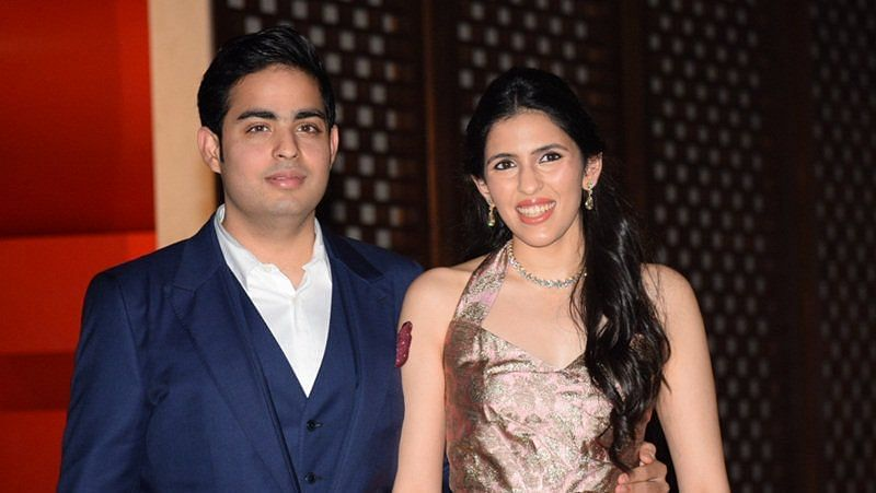 Akash Ambani and fiance Shloka Mehta.