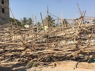 Dharwad: The site where an under construction multi-storey building collapsed leaving two people killed and 50 others trapped in Karnataka