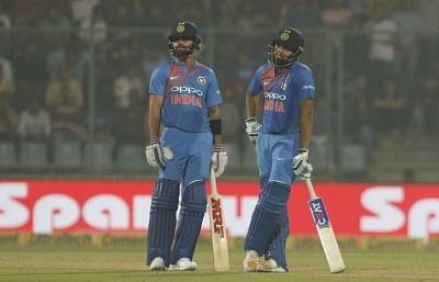 Virat Kohli and Rohit Sharma. (Photo: Surjeet Yadav/IANS)