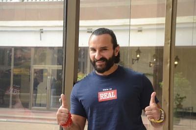 Mumbai: Actor Saif Ali Khan seen at a Mumbai hotel, on Oct 13, 2018. (Photo: IANS)