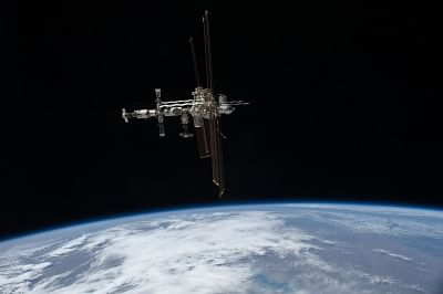 International Space Station (ISS) photographed from the space shuttle Atlantis. (Photo Courtesy: NASA)