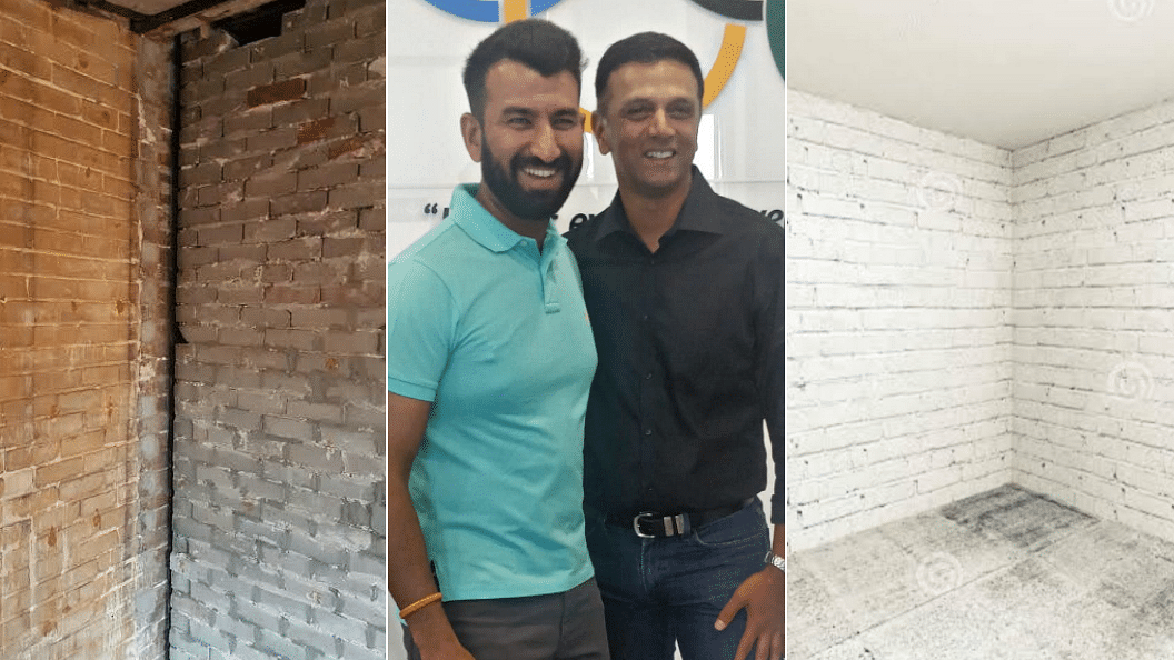 Cheteshwar Pujara posted a picture with Rahul Dravid on Sunday.