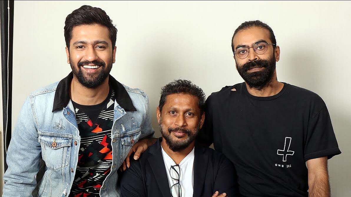 Vicky Kaushal with director Shoojit Sircar and producer Ronnie Lahiri.